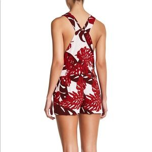 mikoh guyana cay red palm leaf romper